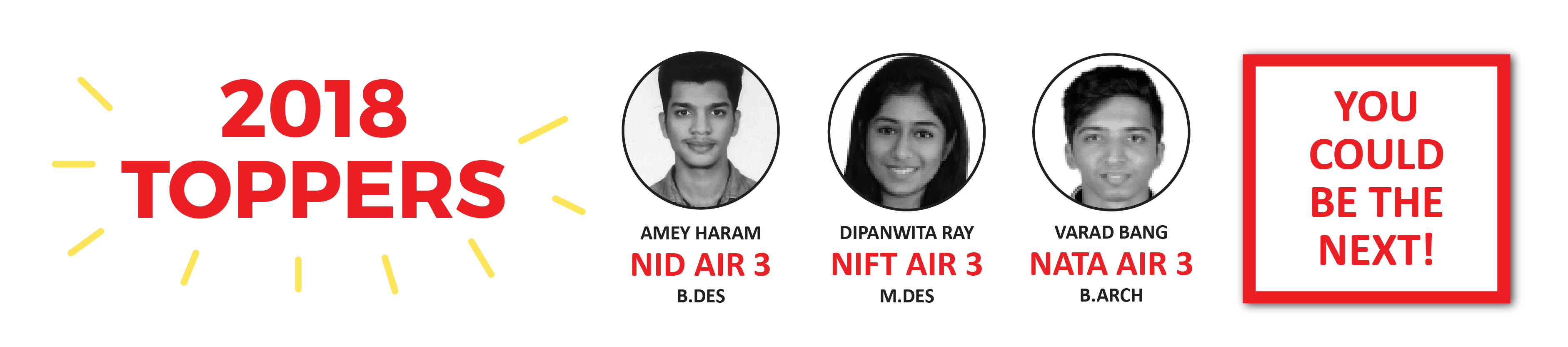 NID/NIFT/NATA toppers 2018 From SILICA