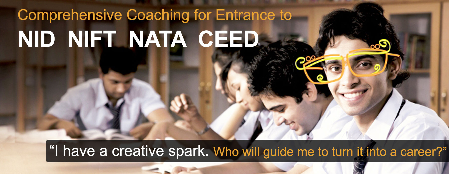 Student showing Comprehensive Coaching for NID, NIFT, NATA, CEED